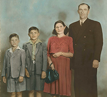 Steve, Nick, Dimitroula and Dimitrios Trandos 1949